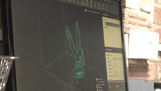 """Simon Walker, da Artforge Studio, diz que a impressão 3D com o software 3D Sprint é """"quase infalível""""."""