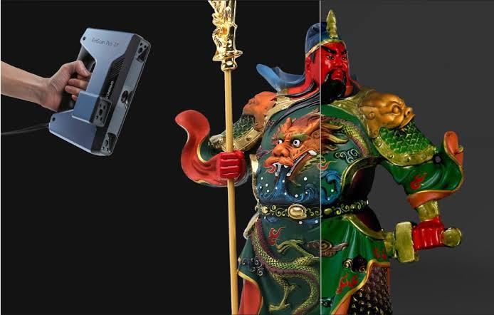 einscan-pro-2x estatua colorida
